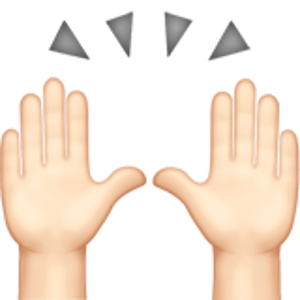 Person Raising Both Hands In Celebration 1 Hand Emoji Emoji White Skin Tone