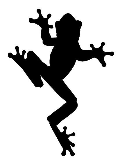frog shilouette frog silhouette by kwg2200 biome images rh pinterest com Simple Frog Clip Art Frog Clip Art Black and White