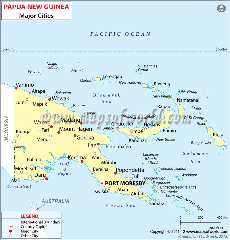 Papua New Guinea Cities Map Homeschool Ideas CCChA Help