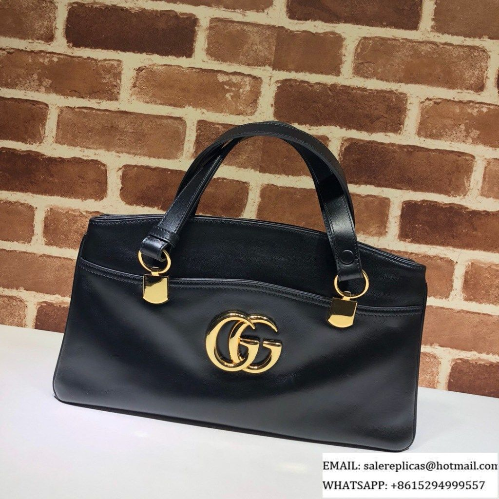 a5d68af5b38d95 Gucci Arli large top handle bags 550130 Black | Luxury Handbags in ...