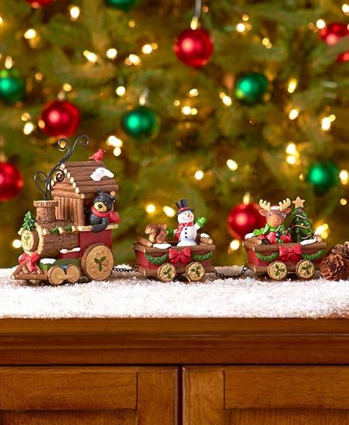 Holiday Train Figurine Set is the perfect addition to your