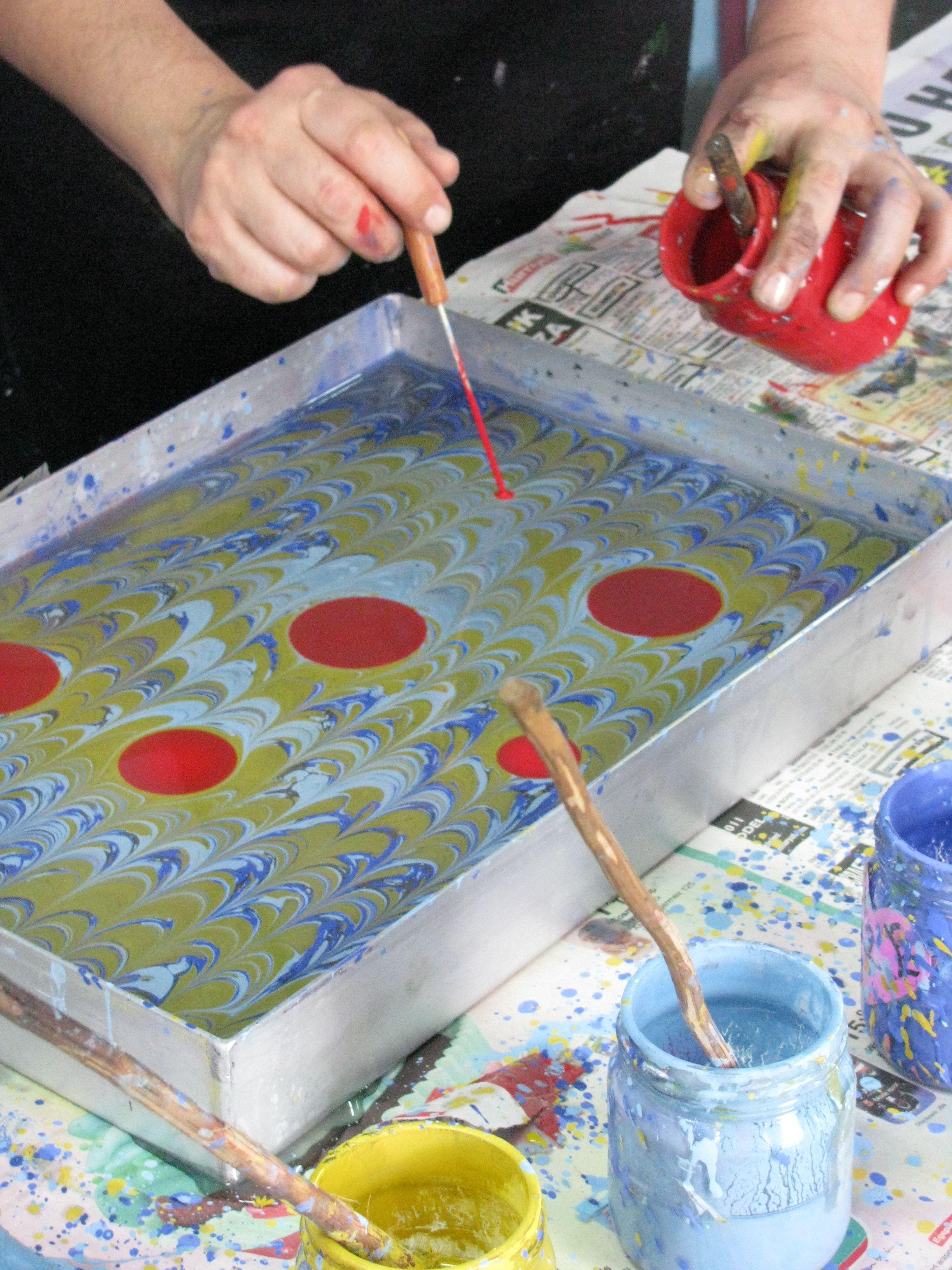 Ebru Turkish Water Marbling Art T 252 Rk Sanatı Tezhip Ve