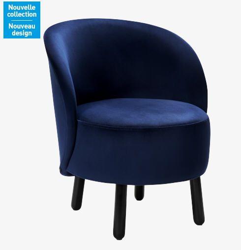 bold fauteuil en velours meubles pas cher velvet. Black Bedroom Furniture Sets. Home Design Ideas