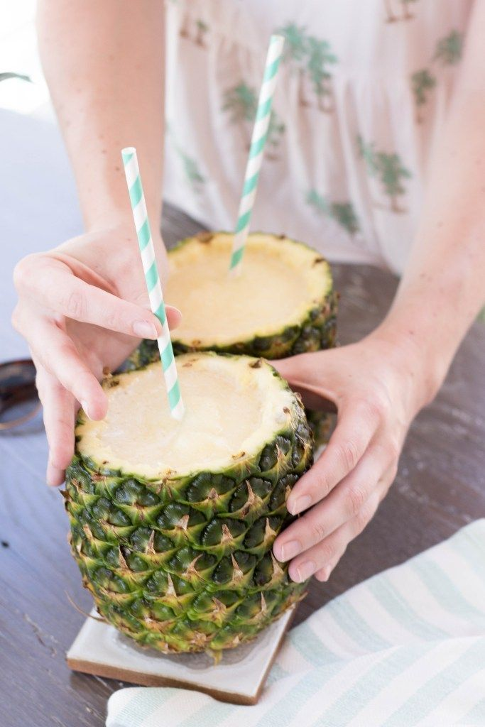 Whip up this delicious pina colada in a pineapple for your next party - learn how!
