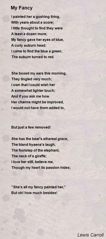 My Fancy Poem By Lewis Carroll Poem Hunter Poems Robert
