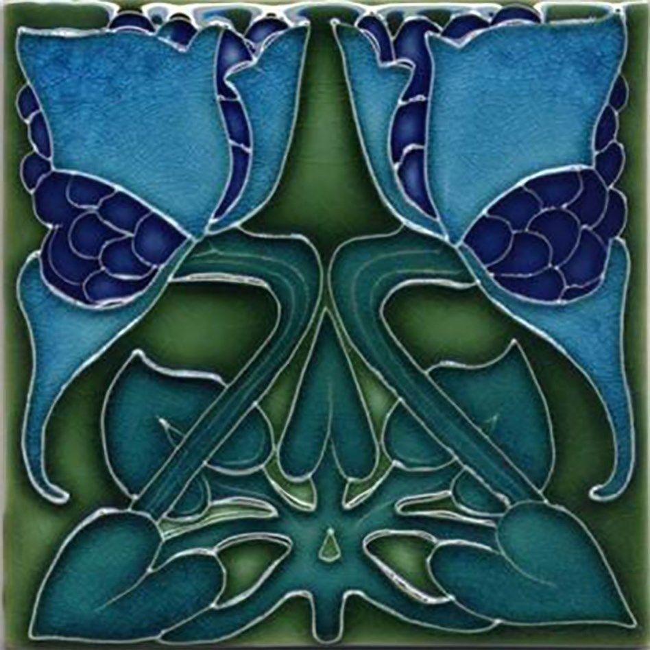 Decorative ceramic tile 425 x 425 inch illustration vintage art decorative ceramic tile 425 x 425 inch illustration vintage art nouveau 1 dailygadgetfo Images