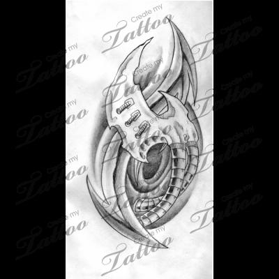 Biomechanical Tattoo Outline Best Tattoo Ideas