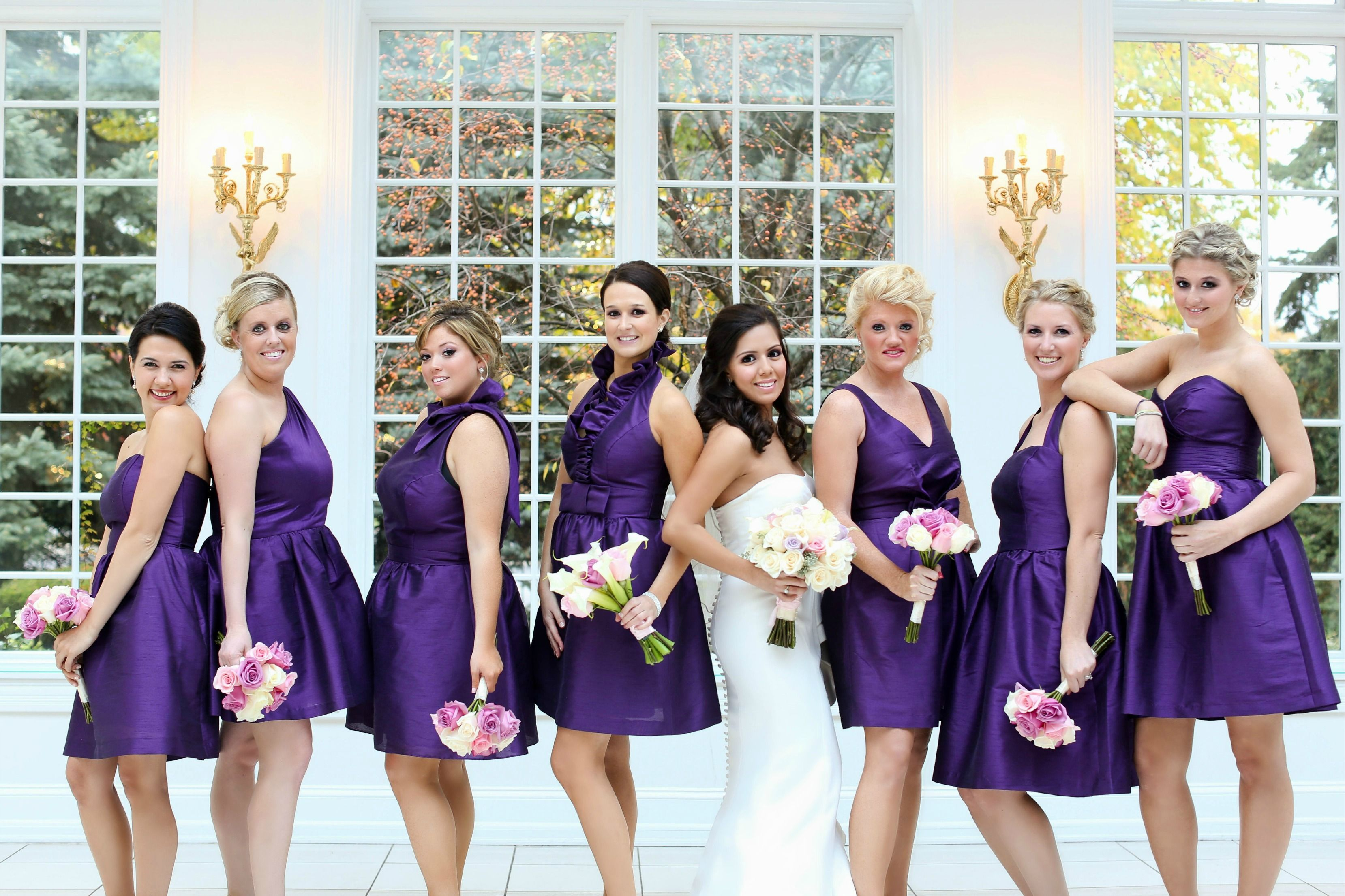 Mix And Match Bridesmaid Dresses Same Color Fabric Length Diffe Style