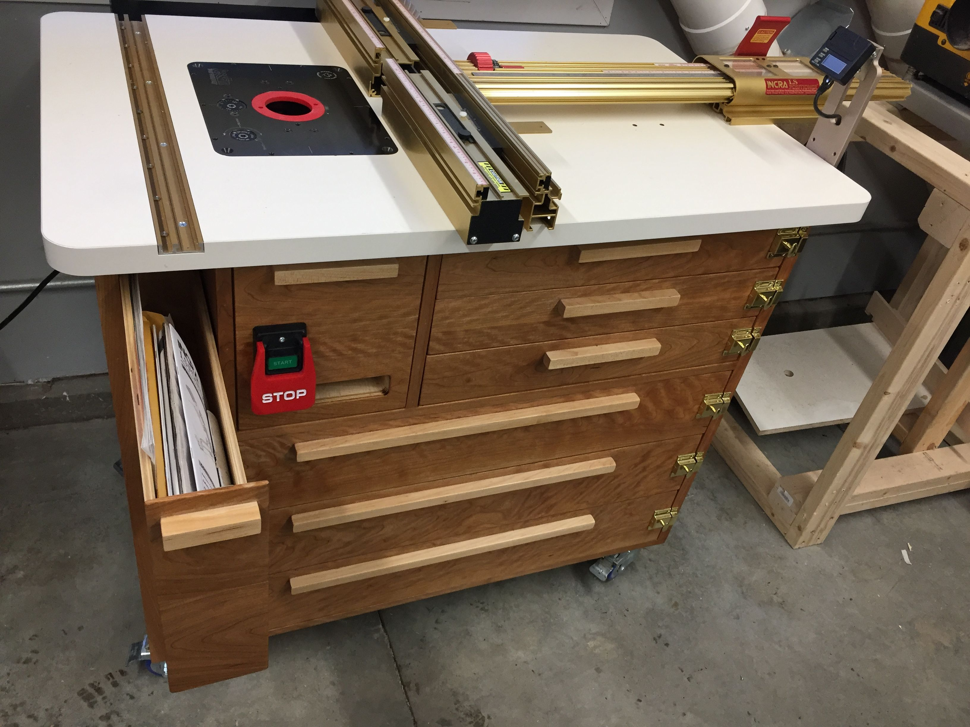 Homemade router table top  Pin by OHM Rocking Chairs on Routers u Router Tables  Pinterest