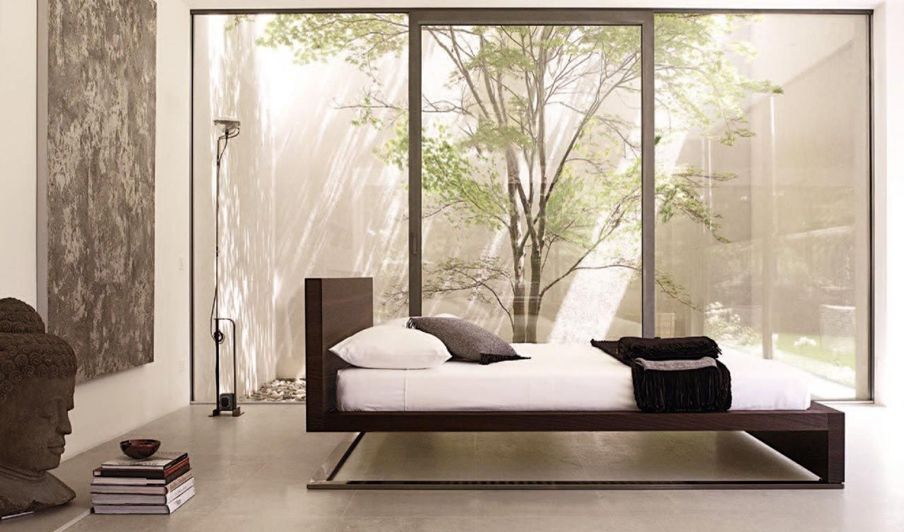 BEDROOM | A zen-like space with a cantilever bed Falegnameria 1946 bed Urano & A zen-like space with a cantilever bed | B E S T | Bedroom Design ...