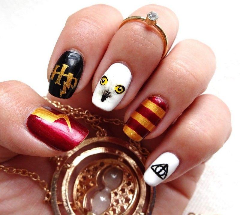 Nailart Bilder Eule Harry Potter Inspiriert Nageldesign Nagellack