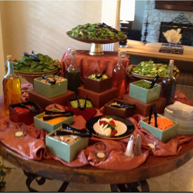 Salad Station For A Small Wedding Reception