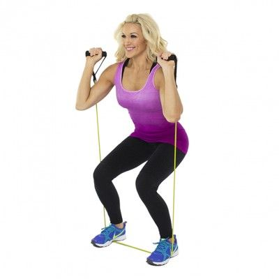 Squat Press with Resistance Band