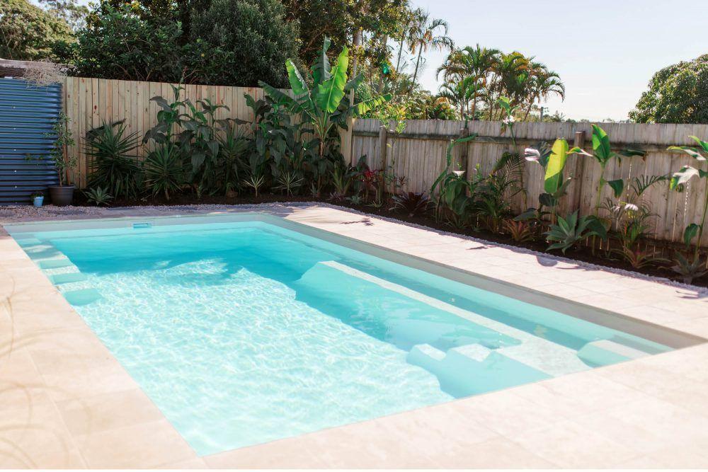 Serene 7 Marbleglass Whitehaven Pearl Mynarellanpool Mynarellansummer Narellanpools Pool Landscaping Pool Colors In Ground Pools