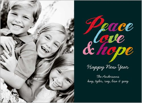 Peace And Hope New Year's Card