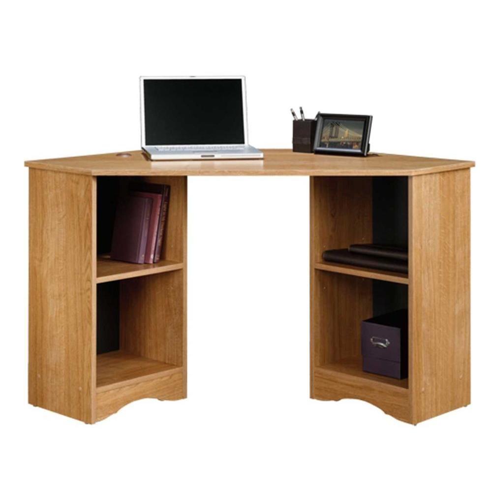 Sauder Beginnings Cinnamon Cherry Desk With Storage 413073 Home