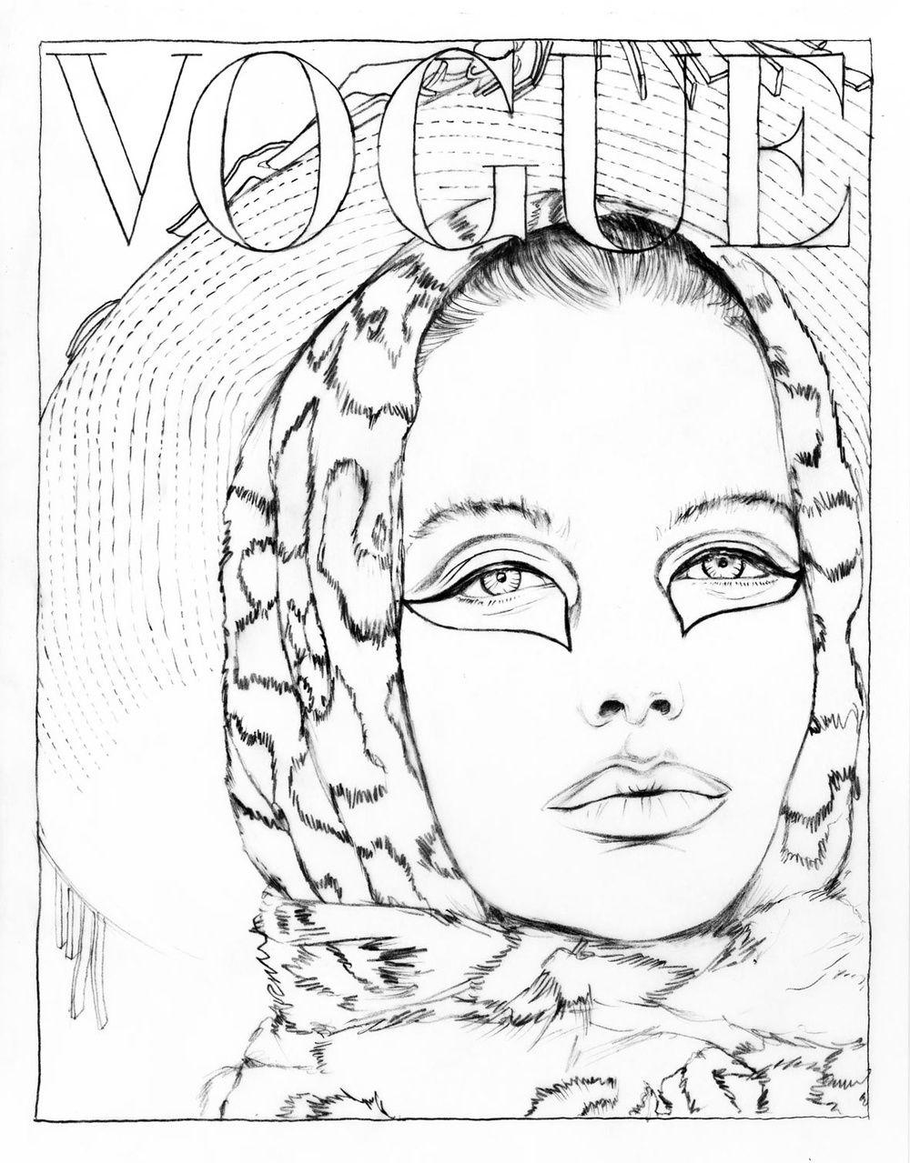 Color Your Favorite Vogue Paris Covers Fashion Coloring Book Coloring Books Cartoon Coloring Pages