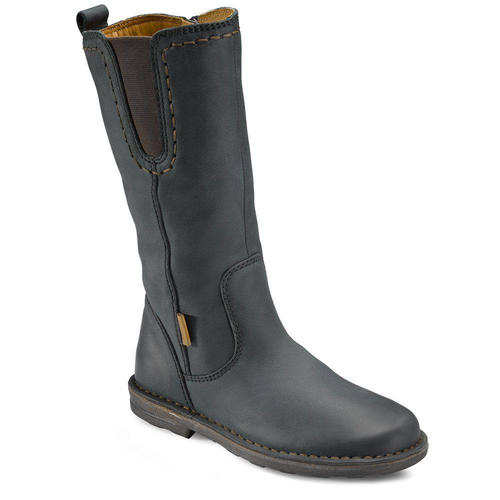 Ecco Aquamarine Girls Long Leather Boots | CLOTHEs | Leather