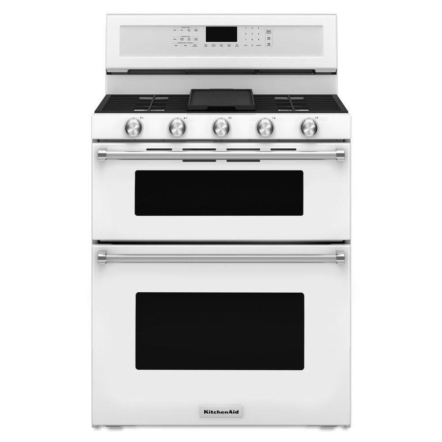 Kitchenaid 30in 5burner 39cu ft21cu ft double oven