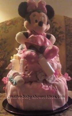 minnie and mickey mouse diaper cake