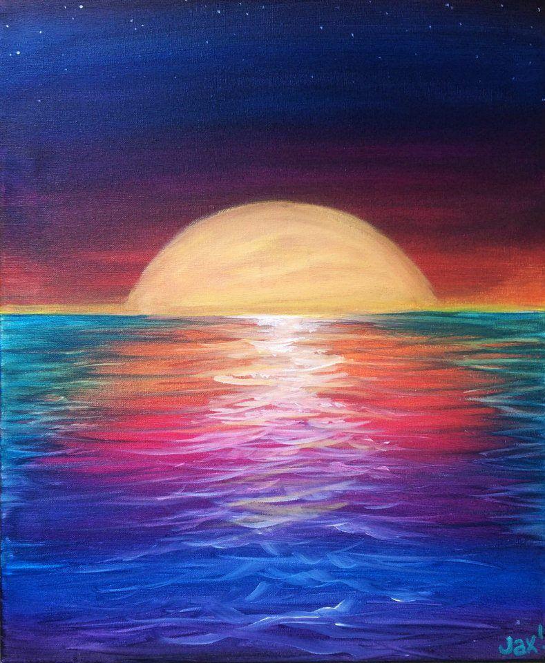 Colors Of An Ocean Sunset Thursday 26th 6 00 9 00 Art Lessons