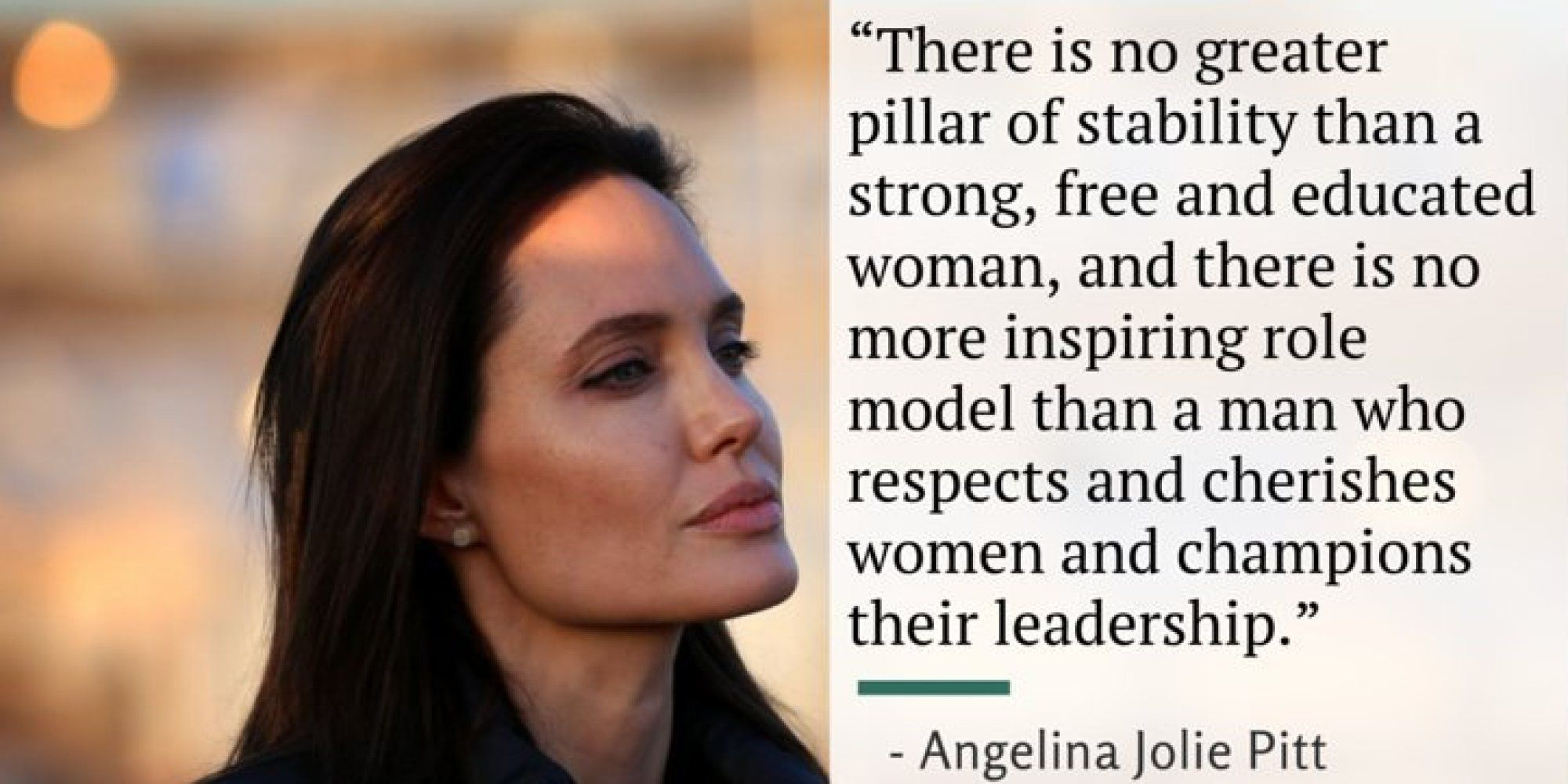 Women's Rights Quotes Angelina Jolie's Powerful Speech On What Women Really Need From