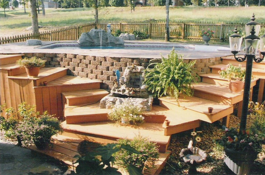above ground pool decks swimming pool tasty sweet above ground pool deck steps design - Above Ground Pool Steps Wood