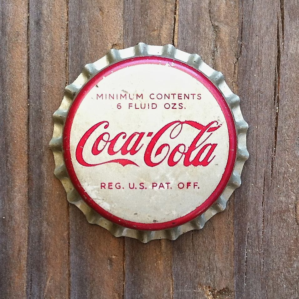 6 Mint Condition Vintage COKE with KEY Unused CORK BOTTLE CAPS Coca Cola
