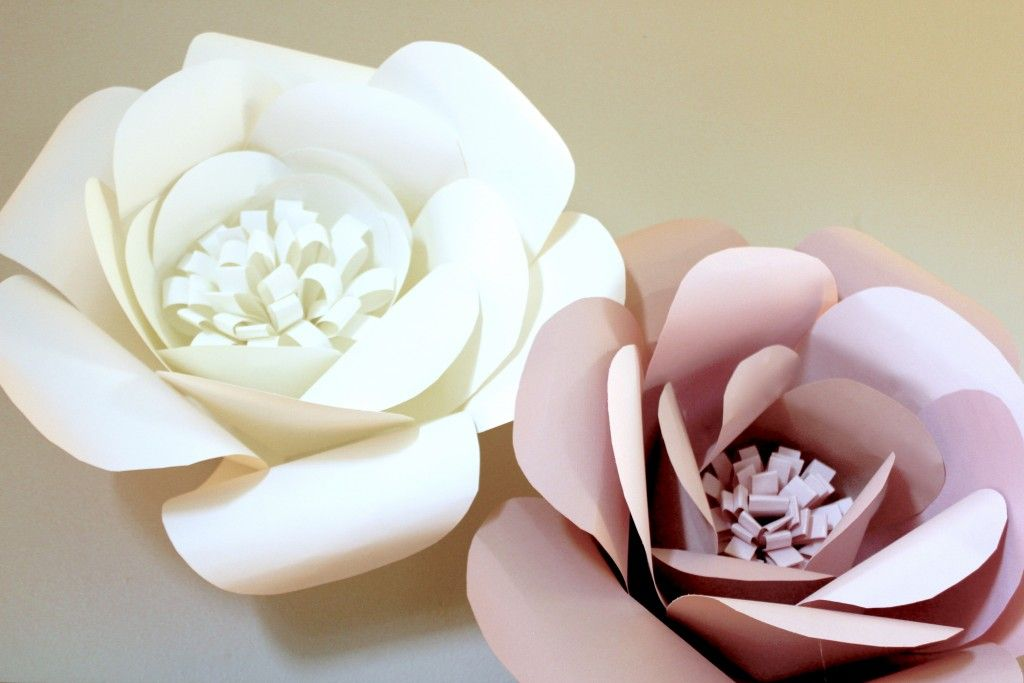 How To Make Giant Paper Roses Made By Marzipan Free Paper Flower Templates Paper Flower Templates Free Printable Giant Paper Roses