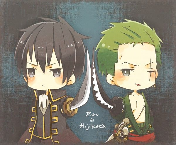 Tags: Fanart, Gin Tama, ONE PIECE, Roronoa Zoro (green