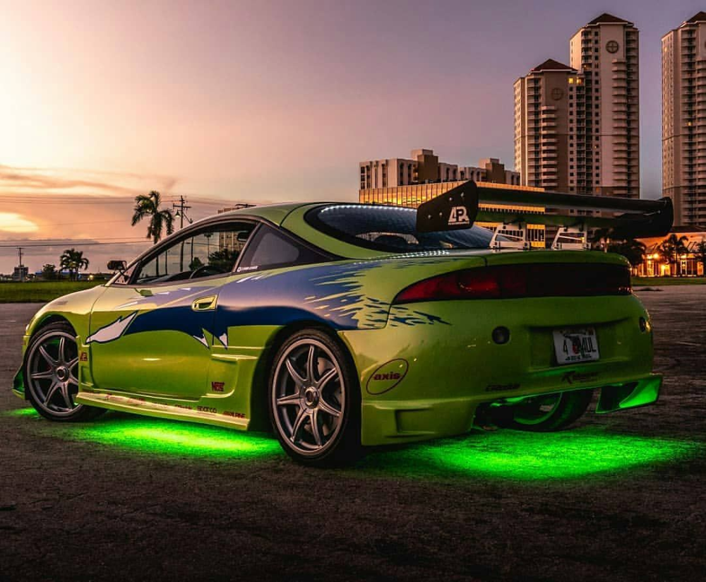 Instagram Da Cars From Fast And Furious Amazing Photo Fnf Cars Fastandfurious Fast Furious Mitsub Fast And Furious Street Racing Cars Green Car