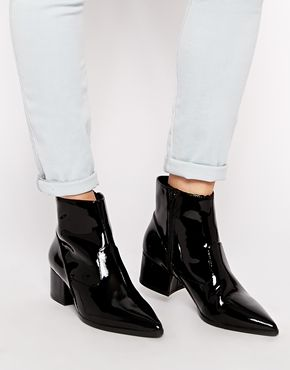 Enlarge ALDO Aleweil Patent Ankle Boots | Shoes | Pinterest ...