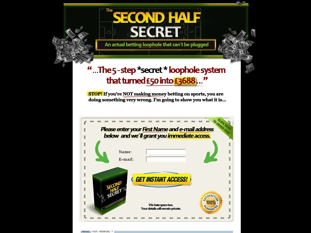 Second half betting strategy totepool betting vouchers for furniture