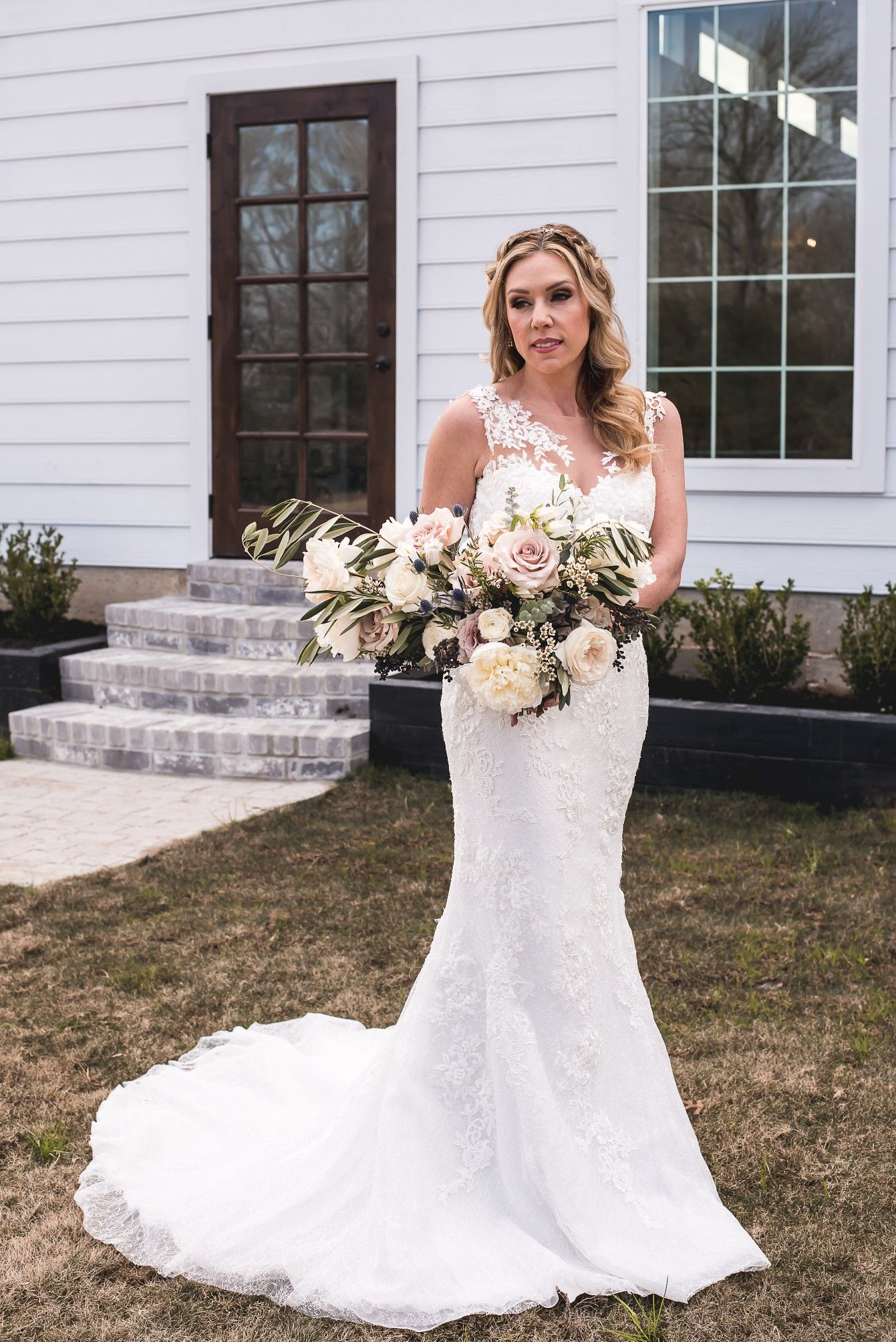 Modified A Line Lace Wedding Dress By Shades Of White Bridal Boutique Wedding Dresses Wedding Dresses Lace White Bridal [ 2008 x 1341 Pixel ]