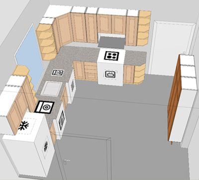 6 Ideas To Solve Small Kitchen Design Layout Problem