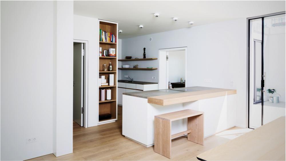 Küche mit Fenix Fronten und weiß geölter Eiche kombiniert - kche eiche