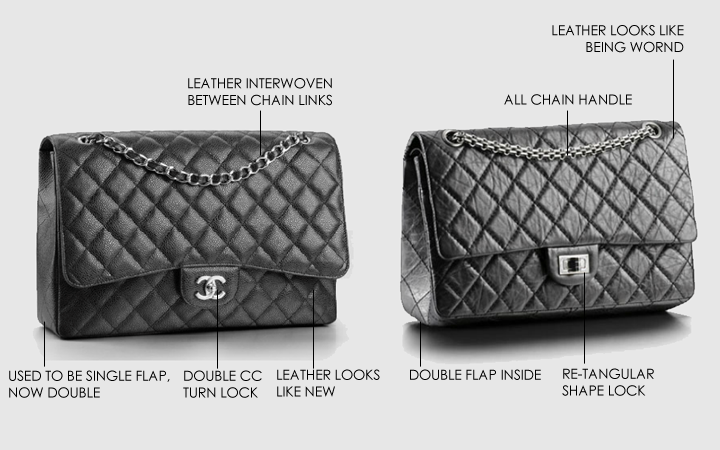 04bed029e435 -Chanel Reissue 2.55 handbags- The Chanel reissue 2.55 handbag is the exact  copy of the original 2.55 bag that Coco Chanel has released in 1955.