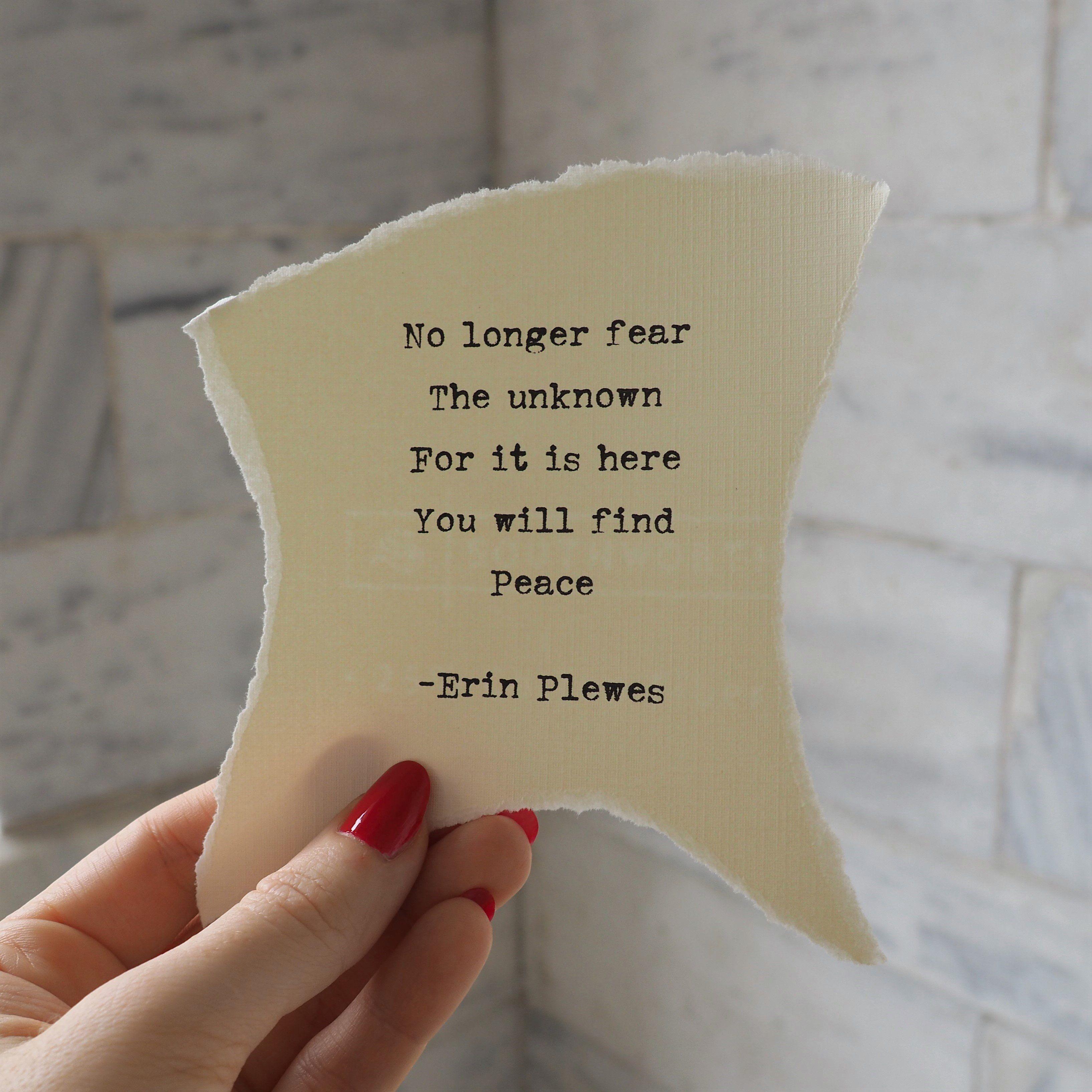 Finding Peace Encouraging Words Mini Framed Artwork