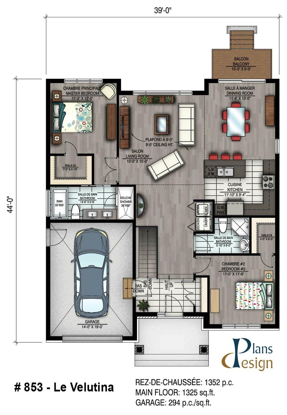 Perfect 853   Le Velutina Bungalow Plain Pied | Plans Design