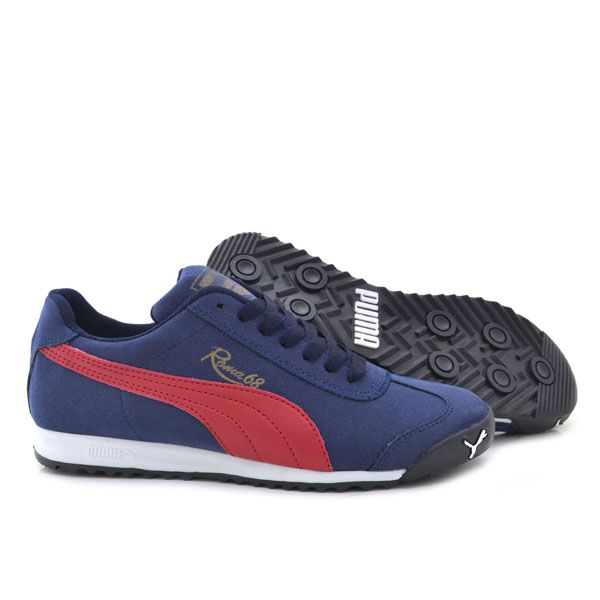 Puma Roma 68 Lacivert Kirmizi Bayan Ayakkabi Spor Womens Red Shoes Women Shoes Womens Athletic Shoes