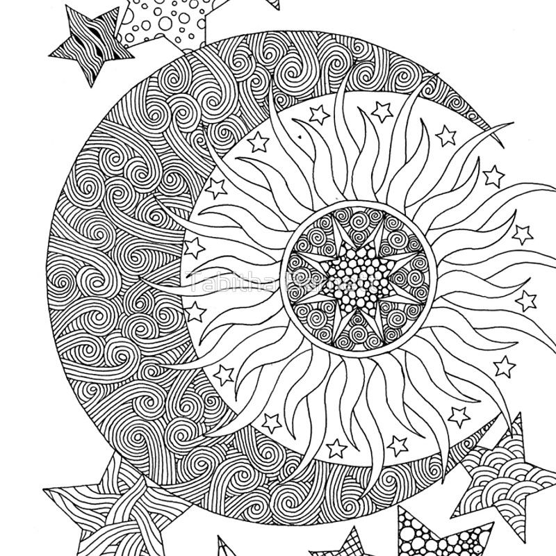 Sol, luna y estrellas enredados Cuaderno de espiral