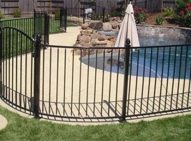 Get Beautiful Fence And Gate Design Ideas Iron Fence For Pool Page Wrought Iron Pool Fence Backyard Pool Spanish Style Homes