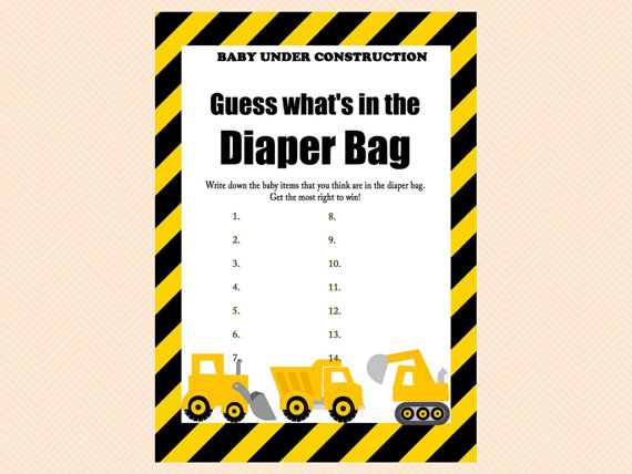 Guess Whatu0027s In The Diaper Bag Game Diaper By MagicalPrintable