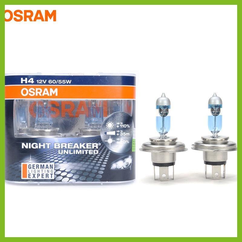 Osram Night Breaker Unlimited 12v H1 H4 H7 H11 9005 9006 Auto Headlight Bulbs Super Bright Upgrade Lamps Hi Lo Beam Fog Light Hi Bombillas Autos Y Luces