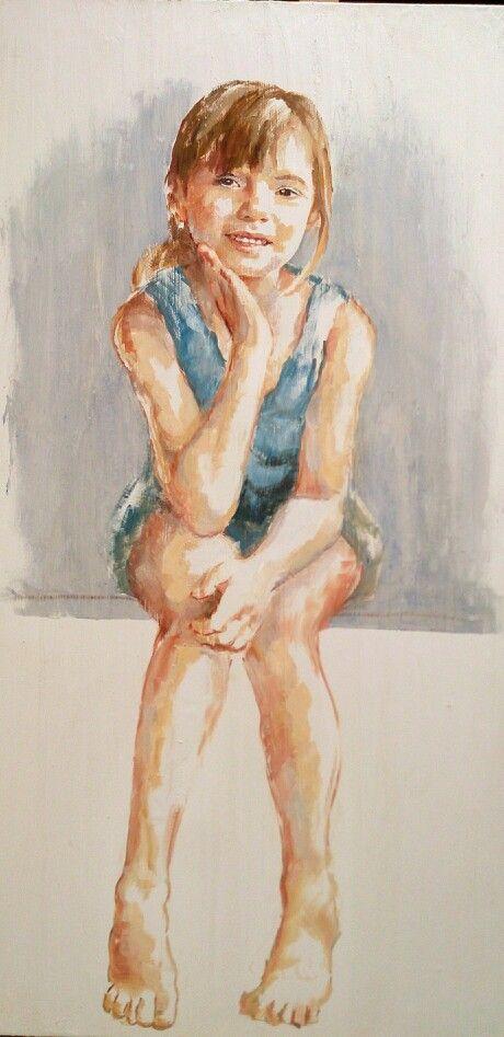 Retrato 120 x 60 M Isabel Barros Alcalde
