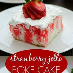 ERDBEER JELLO POKE CAKE - Delish Food Rezepte   - Food -