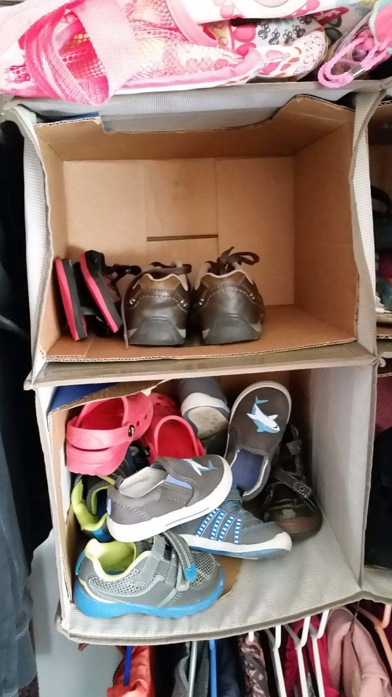 Amazing 5 Minute Diy Kids Shoe Organziation For Your Closet Kids Shoe Organization Kids Shoes Diy Closet Storage