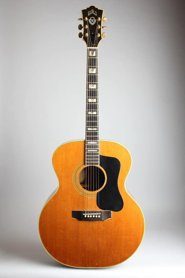 Guild F 50r Flat Top Acoustic Guitar 1973 Ser 81334 Black Hard Shell Case Retrofret Vintage Guitars Reverb Guitar Acoustic Guitar Guild Guitars