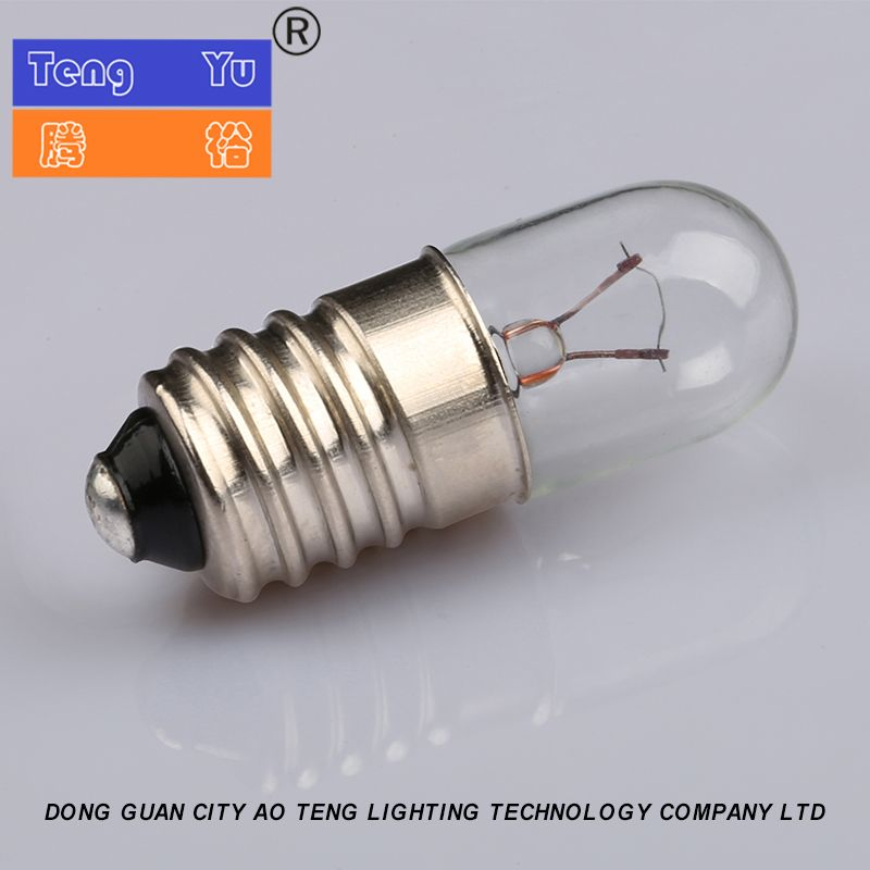 T10 Ba9s 6v 8v 12v 24v 30v Filament Miniature Indicator Bulb Clear Glass Lamps Bulb Light Bulb