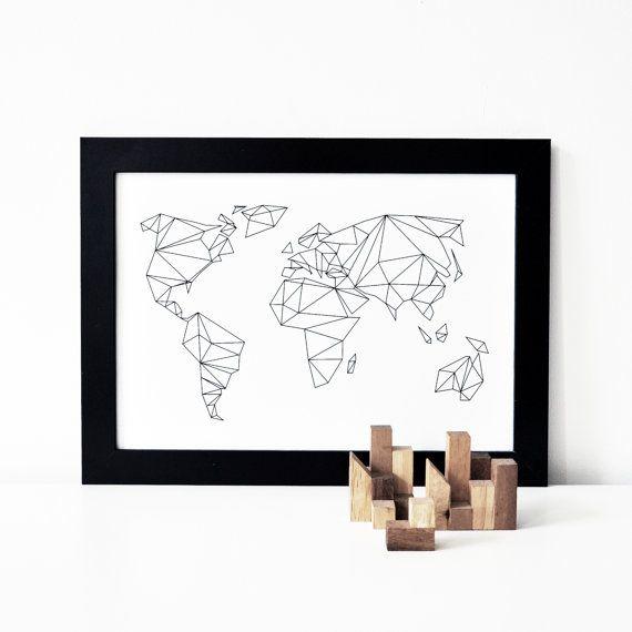 A1 / 50x70 POSTER Geometrical World von studionahili auf Etsy